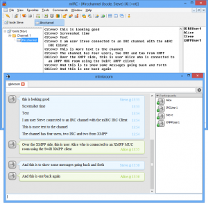 Chat from the perspective of IRC and XMPP