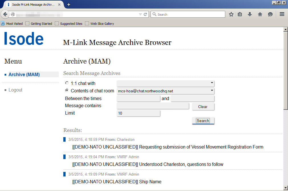 M-Link Archive Browser