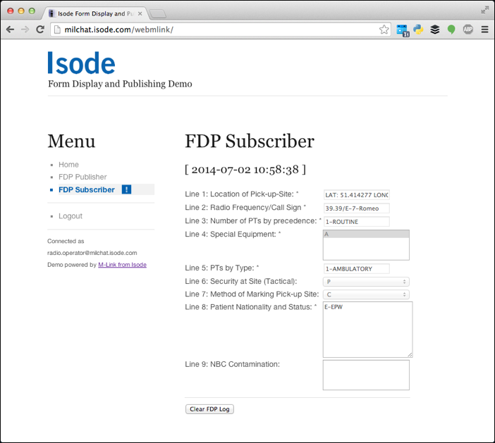 Web Interface: Subscriber